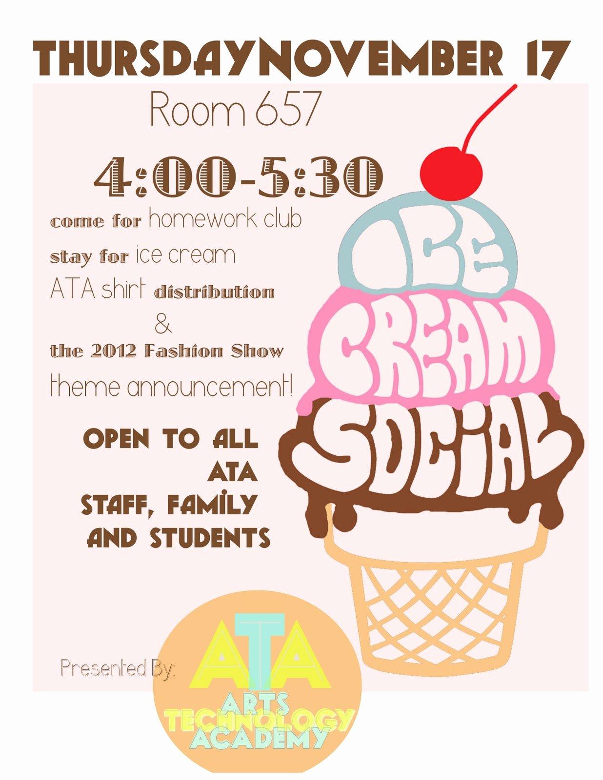 Free Ice Cream social Flyer Template Elegant Free Ice Cream social Invites