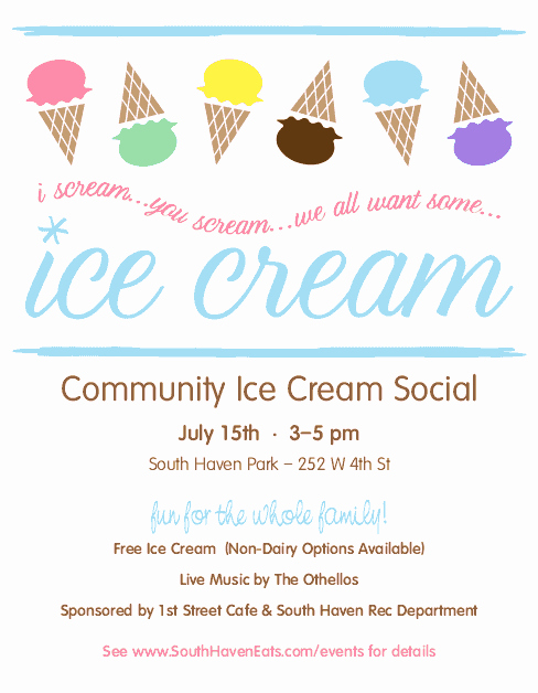 Free Ice Cream social Flyer Template New Ice Cream social Flyer