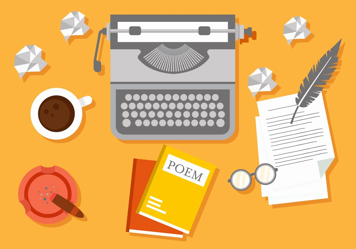 Free Illustration Essay Examples Luxury Writer Workspace Vector Illustration Download Free