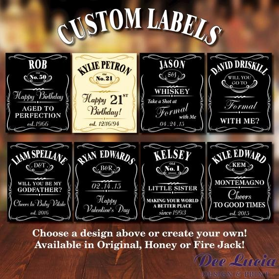 Free Jack Daniels Label Template Fresh Custom Jack Daniels Bottle Labels for Any by