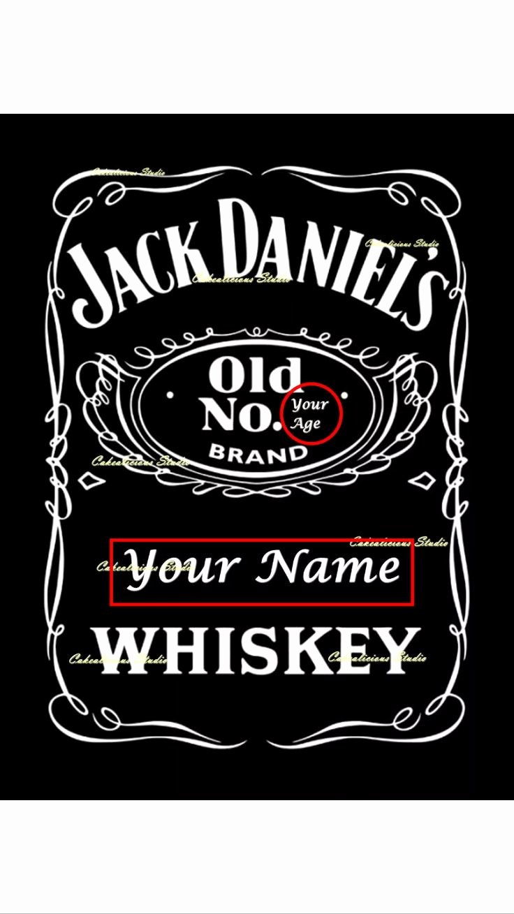 Free Jack Daniels Label Template Fresh Personalised Edible Icing Sheet Jack Daniels Door