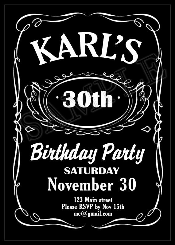 Free Jack Daniels Label Template Inspirational Printable Jack Daniels themed Birthday Party Invitation