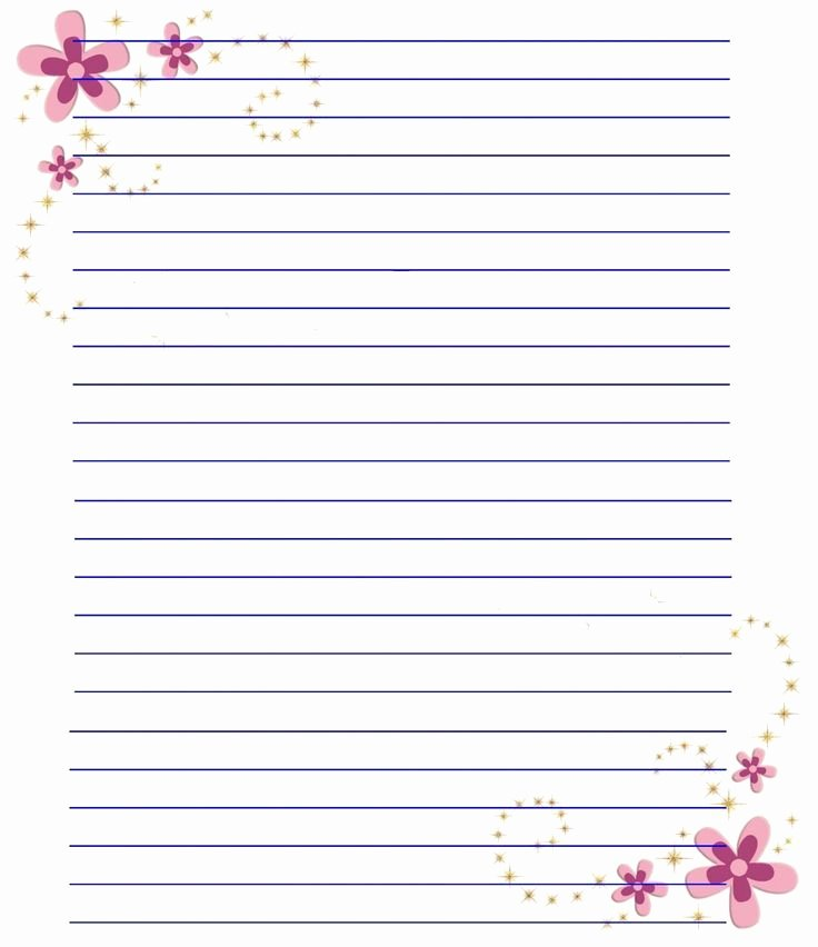 Free Lined Stationery Templates Elegant 110 Best Printable Lined Writing Paper Images On Pinterest