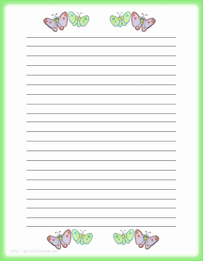 Free Lined Stationery Templates Fresh Primary Writing Paper