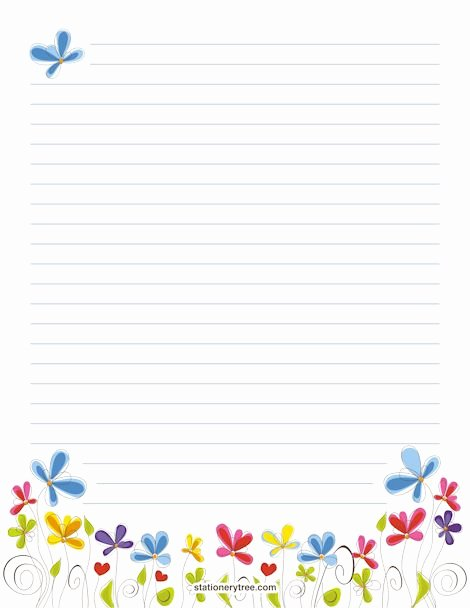 Free Lined Stationery Templates Lovely Floral Stationery and Writing Paper