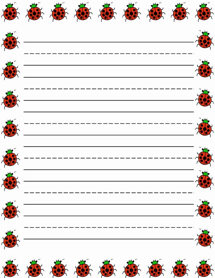 Free Lined Stationery Templates Luxury Ladybugs Border Free Printable Kids Stationery Free