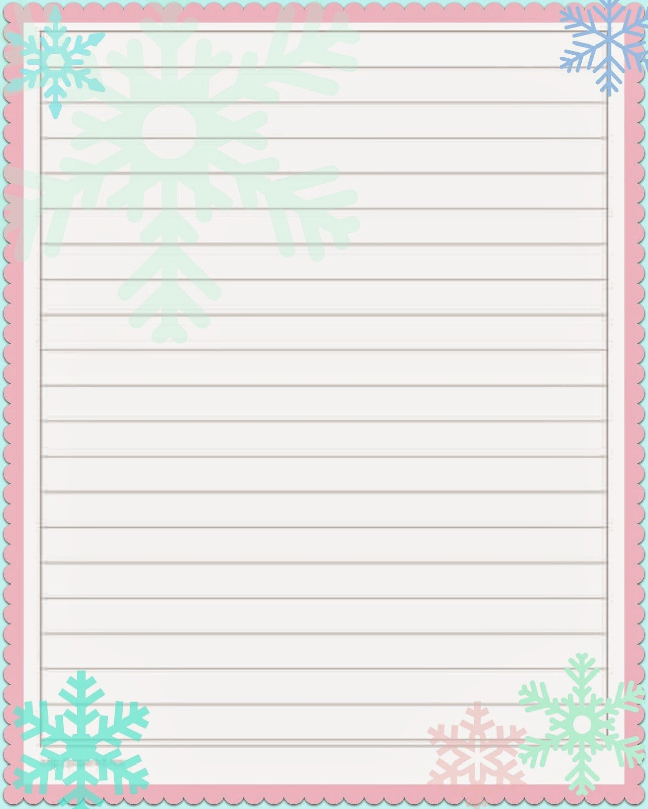 Free Lined Stationery Templates New 29 Of Christmas Paper to Print Out Template