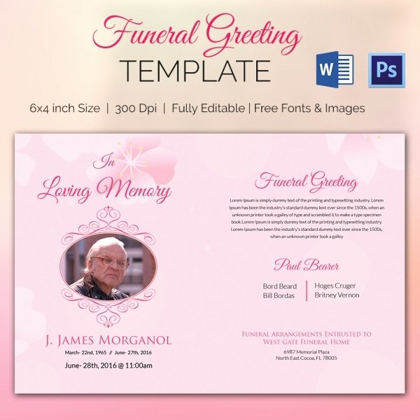 Free Memorial Card Template Beautiful 11 Funeral Card Templates Free Psd Ai Eps format