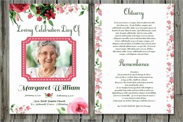 Free Memorial Card Template Beautiful Funeral Prayer Cards Templates Free Download Aashe