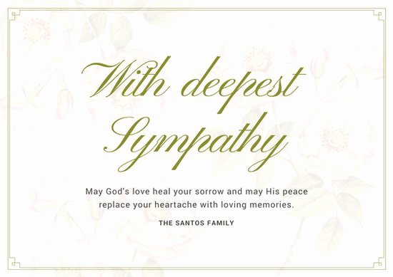 Free Memorial Card Template Fresh Customize 139 Sympathy Card Templates Online Canva