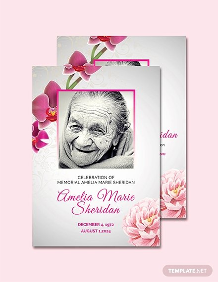Free Memorial Card Template Inspirational Free Funeral Memorial Card Template Download 232 Cards