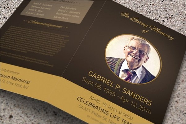 Free Memorial Card Template Lovely 19 Funeral Brochure Templates Free Psd Ai Eps format