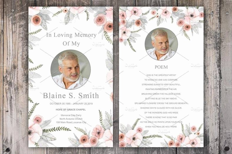 Free Memorial Card Template Luxury 11 Funeral Memorial Card Designs & Templates Psd Ai