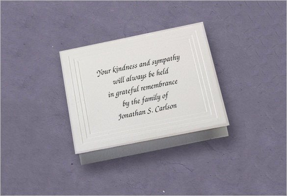 Free Memorial Card Template Luxury 26 Funeral Thank You Cards Psd Ai Eps