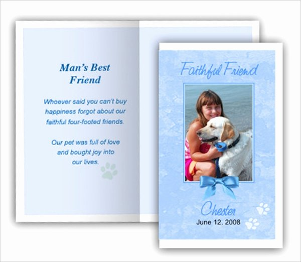 Free Memorial Card Template Unique 7 Pet Funeral Program Templates Psd Ai Eps