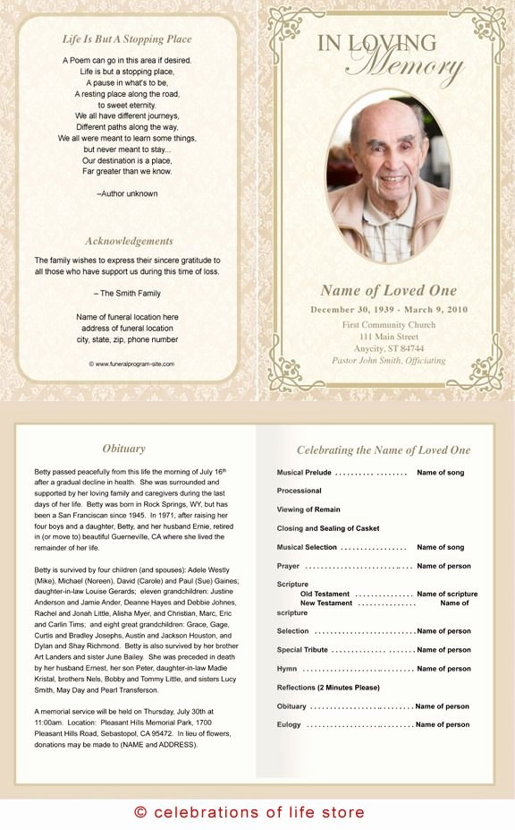 Free Memorial Cards Template Awesome 73 Best Printable Funeral Program Templates Images On
