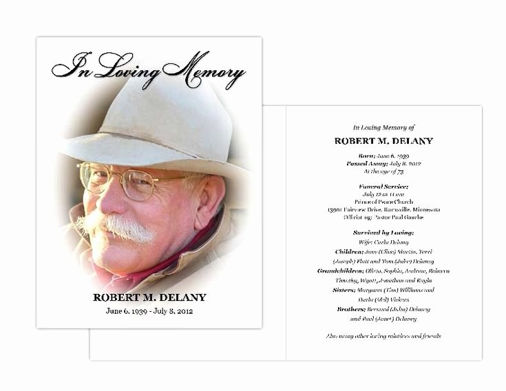 Free Memorial Cards Template New 15 Best Celebration Of Life Images On Pinterest