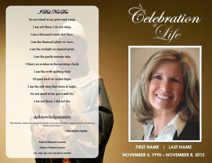 Free Memorial Cards Template New the Funeral Memorial Program Blog Free Funeral Program