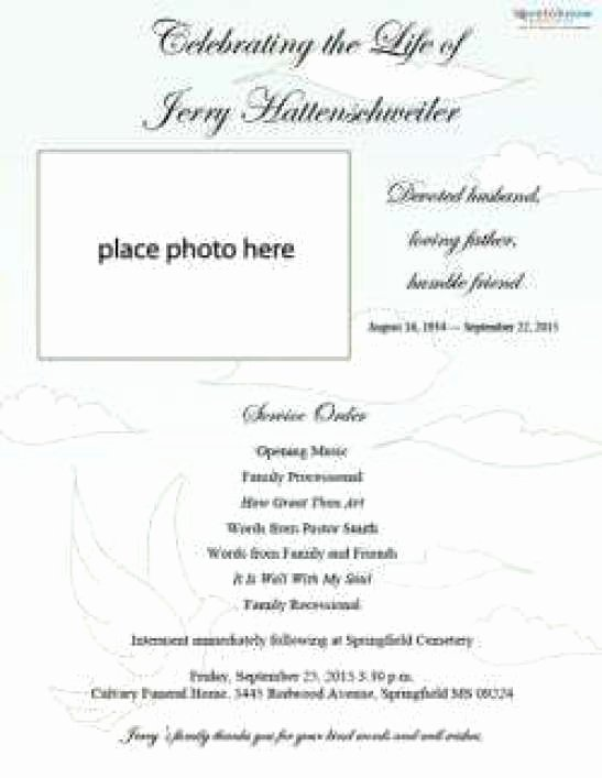 Free Memorial Cards Template Unique 21 Free Free Funeral Program Template Word Excel formats