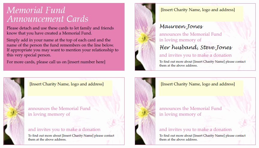 Free Memorial Cards Template Unique Free Downloadable Templates