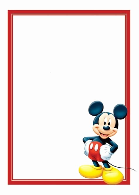 Free Mickey Mouse Template Awesome Free Mickey Mouse Invitations Template
