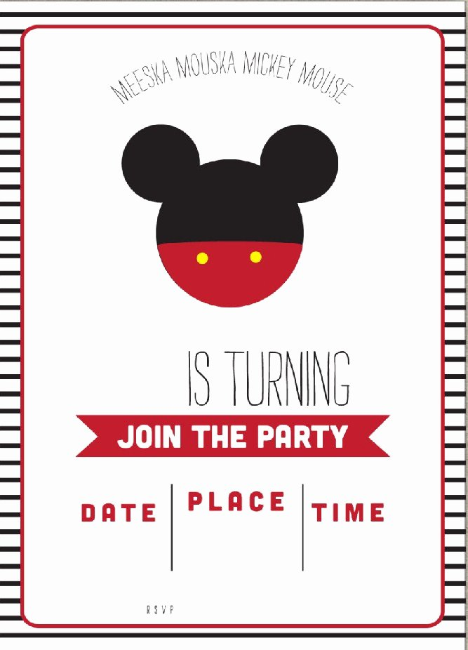 Free Mickey Mouse Template Elegant Free Mickey Mouse Clubhouse Birthday Invitations – Free