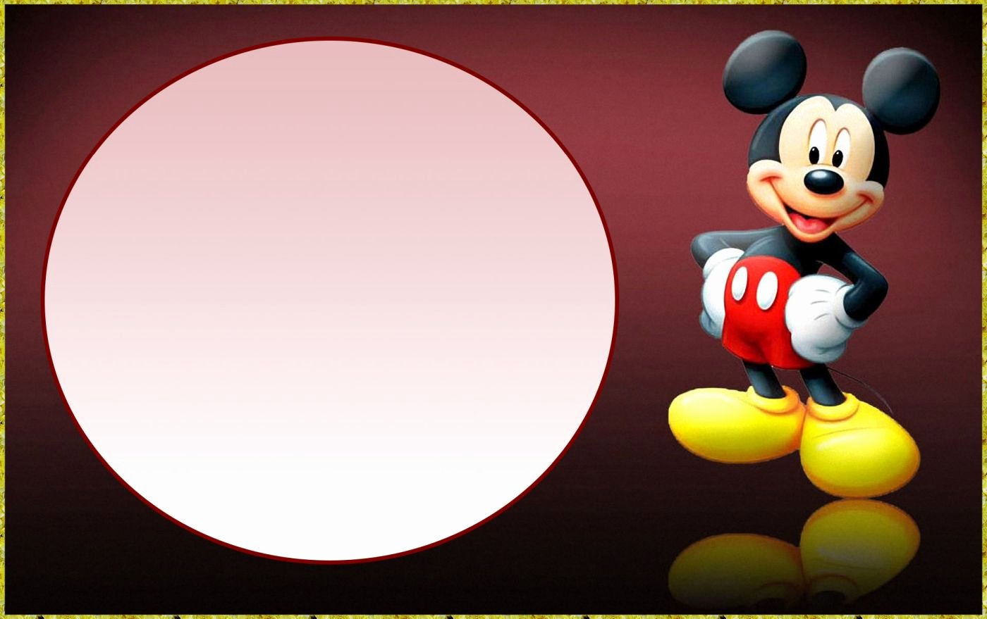 Free Mickey Mouse Template Elegant Mickey Mouse Template for Invitation Hashtag Bg