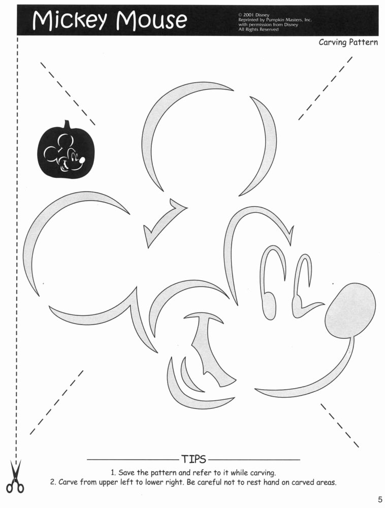 Free Mickey Mouse Template Luxury Pattern34