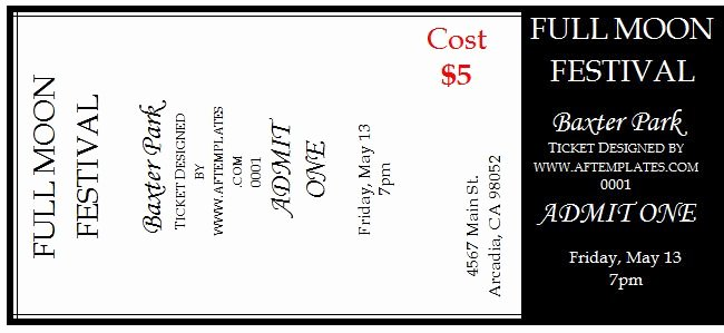 Free Movie Ticket Template for Word Best Of 40 Free Editable Raffle & Movie Ticket Templates