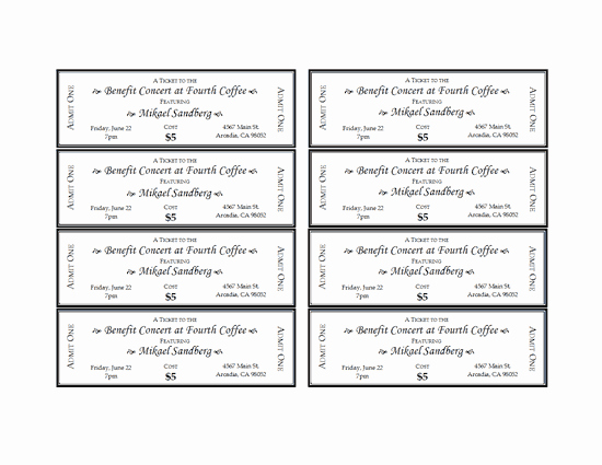 Free Movie Ticket Template for Word Best Of event Tickets