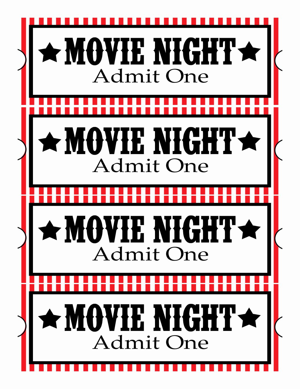 Free Movie Ticket Template for Word Best Of Sweet Daisy Designs Free Printables Home Movie theatre Night