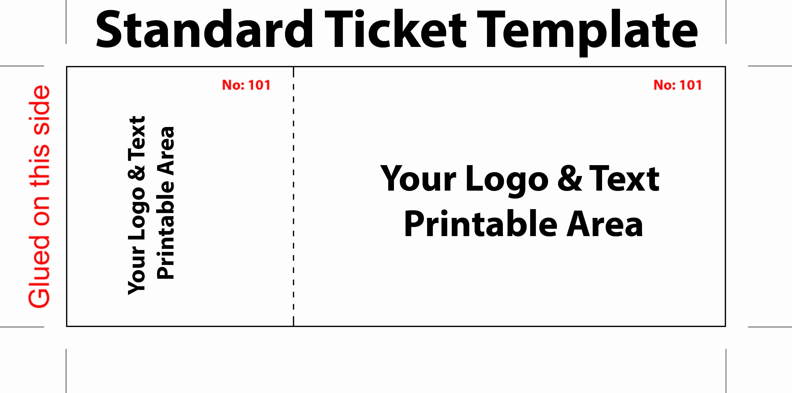 Free Movie Ticket Template for Word Elegant Free Editable Standard Ticket Template Example for Concert