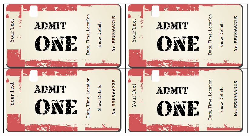 Free Movie Ticket Template for Word Inspirational 6 Ticket Templates for Word to Design Your Own Free Tickets