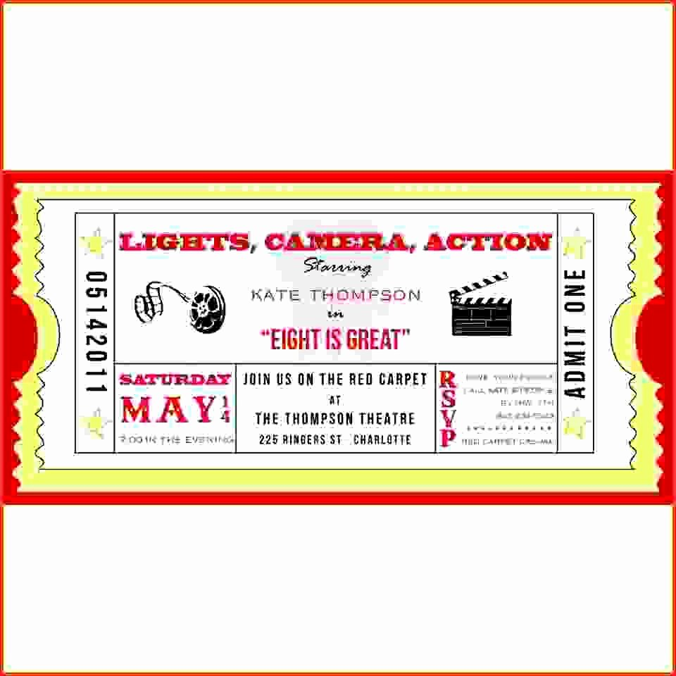 Free Movie Ticket Template for Word Lovely Admit E Ticket Template Example Mughals