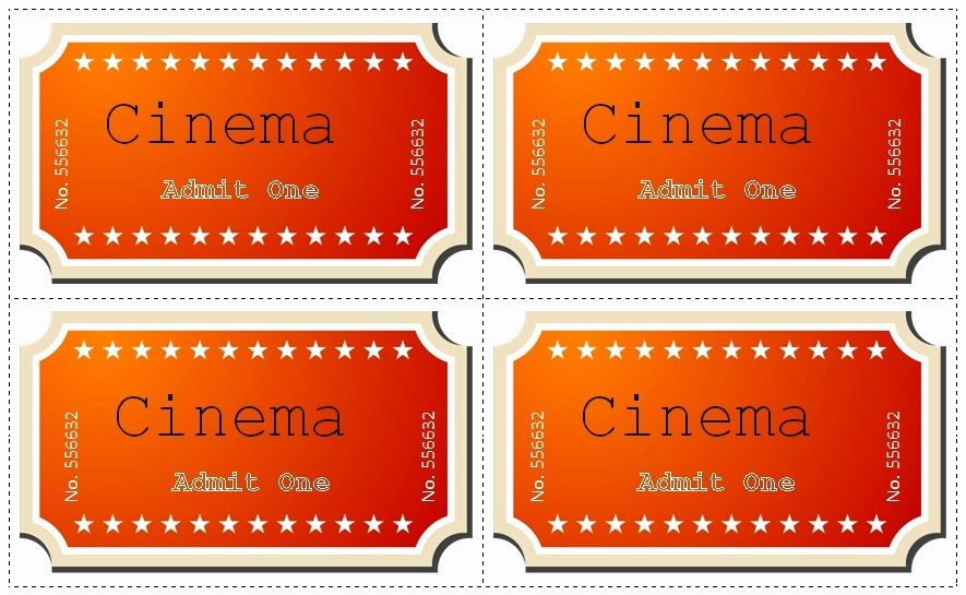 Free Movie Ticket Template for Word Lovely Movie Ticket Template Free Beepmunk