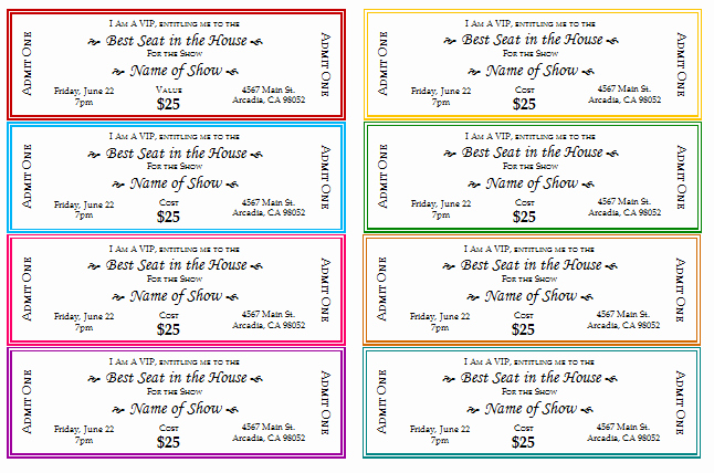 Free Movie Ticket Template for Word Luxury 12 Free event Ticket Templates for Word Make Your Own