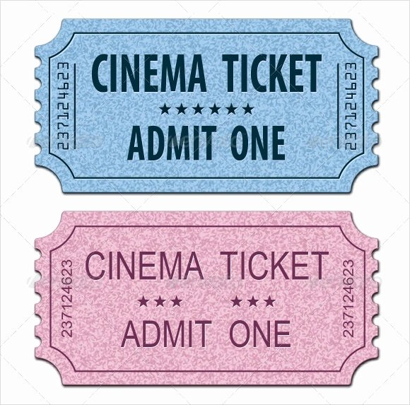 Free Movie Ticket Template for Word Luxury 33 Sample Amazing Movie Ticket Templates Psd Ai Word