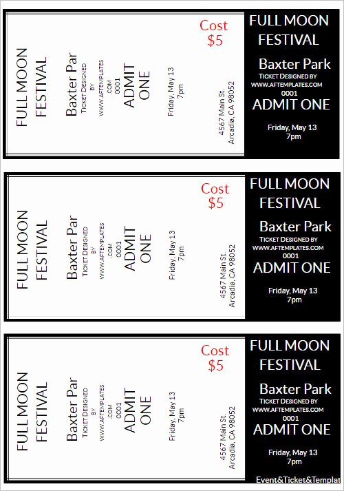 Free Movie Ticket Template for Word Luxury 36 Printable Movie Ticket Templates Free Psd Pdf Excel