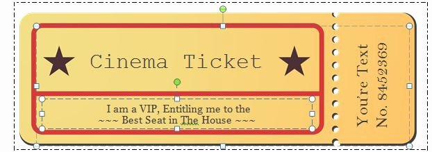 Free Movie Ticket Template for Word Luxury 40 Free Editable Raffle & Movie Ticket Templates