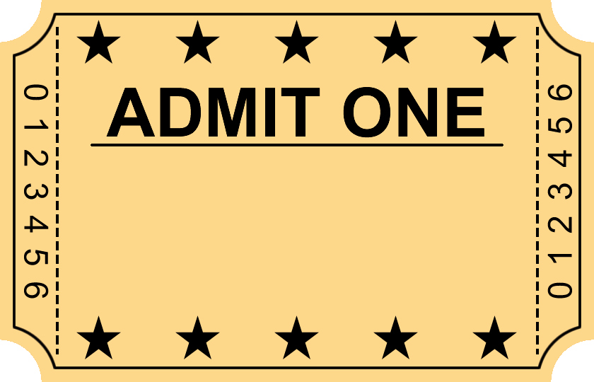 Free Movie Ticket Template for Word Luxury Templates Clipart Movie Ticket Pencil and In Color