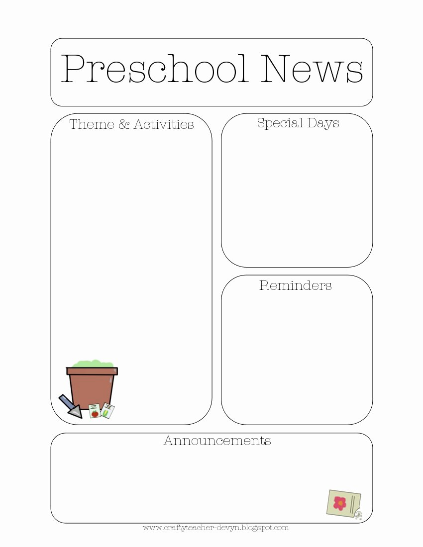 Free Newsletter Templates for Preschool Fresh Newsletter Templates