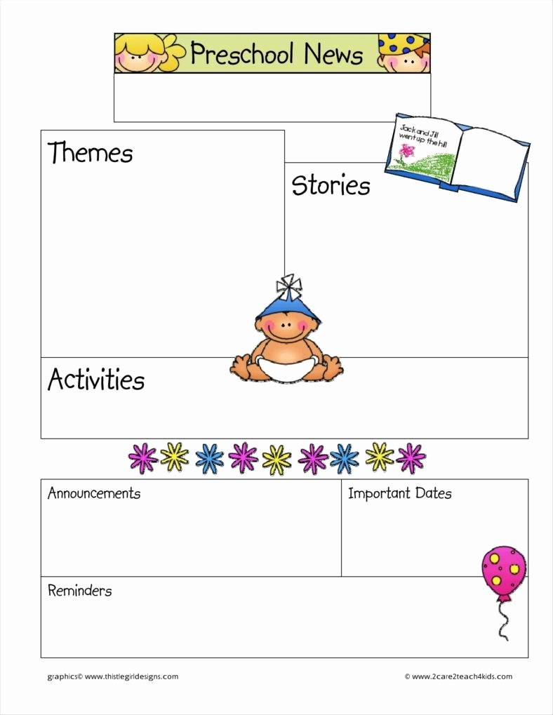 Free Newsletter Templates for Preschool Inspirational 9 Kindergarten Newsletter Templates Free Samples