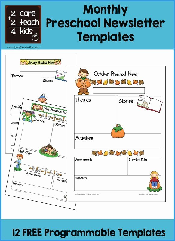 Free Newsletter Templates for Preschool Inspirational Preschool Newsletter Template