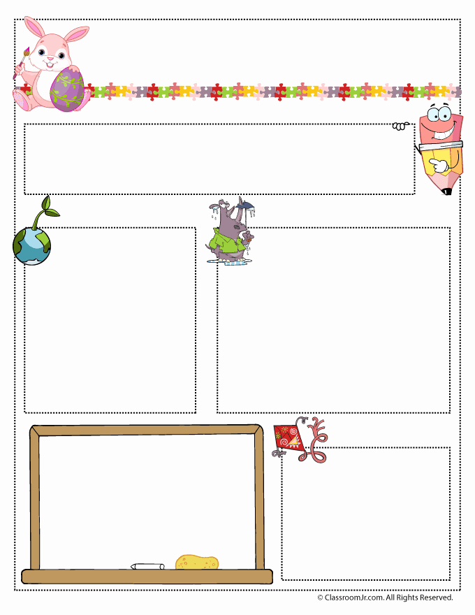 Free Newsletter Templates for Preschool Lovely April Teacher Newsletter Template Classroom Jr
