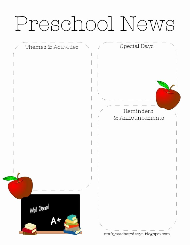 Free Newsletter Templates for Preschool Unique 1000 Images About Newsletter Template On Pinterest