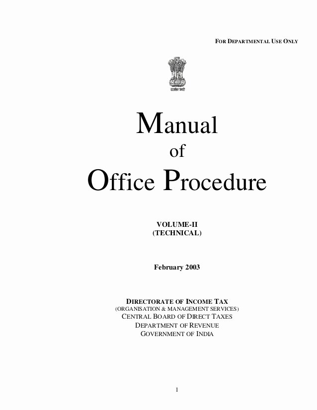 Free Office Procedures Manual Template Elegant Manual Of Office Procedure Itdse