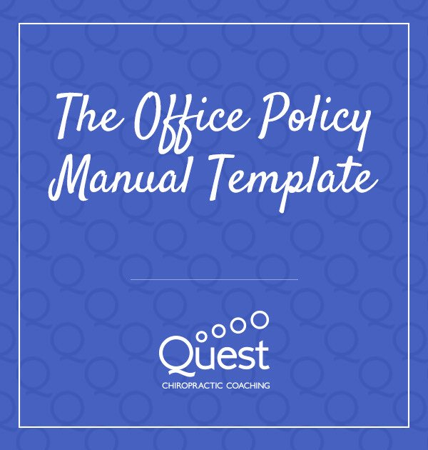 Free Office Procedures Manual Template Lovely the Fice Policy Manual Template Quest Chiropractic
