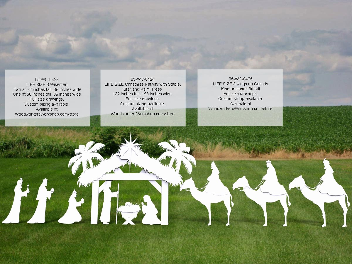 Free Outdoor Nativity Scene Patterns Beautiful 05 Wc 0425 3 Kings On Camels Life Size Silhouettes Yard