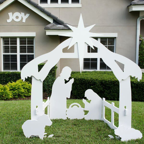 Free Outdoor Nativity Scene Patterns Elegant Christmas Outdoor Joy Sign Decoration