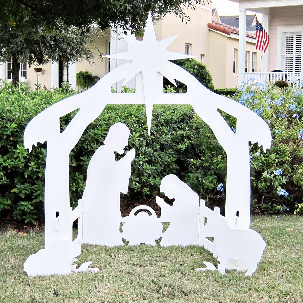 Free Outdoor Nativity Scene Patterns Fresh Amazon Teak isle Christmas Outdoor Nativity Set Yard